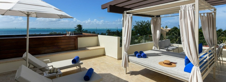 Presidential suite with private rooftop pool privilege aluxes hotel isla mujeres