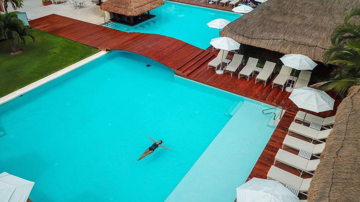 Swimming pool privilege aluxes hotel isla mujeres